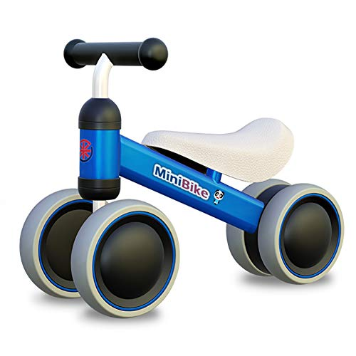 XIAPIA Kinder Laufrad ab 1 Jahr | Spielzeug Lauflernrad mit 4 Räder für 10 - 24 Monate Baby, Erst Rutschrad...