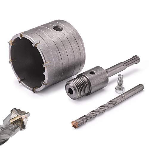 KSP-Tec ® Bohrkrone 68mm - verstärkte Bauart - Hammerschlagfest - 4 Schneiden Zentrierbohrer - Dosenbohrer...