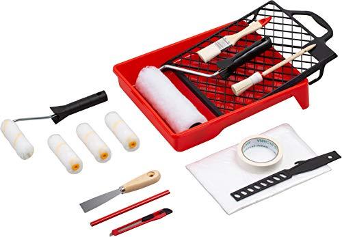 Werkzeyt Renovierungs-Set 17-teilig - Umfangreiche Werkzeuge & Hilfsmittel zum Renovieren & Streichen - Mit...