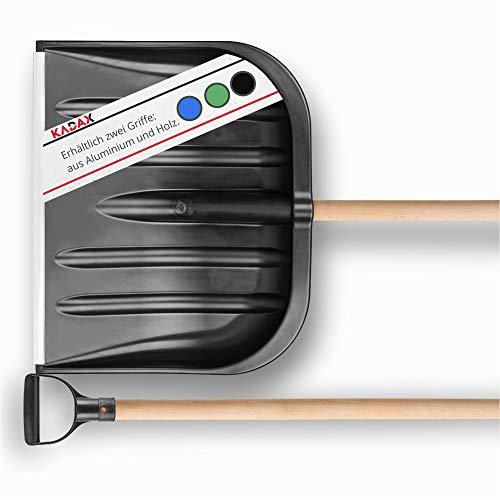 KADAX Schneeschaufel mit ergonomischem Griff, Blattbreite: 49 cm, Kunststoff-Blatt, Schneeschieber, ideale...