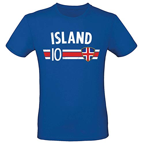 Shirt-Panda Fußball WM T-Shirt · Fan Artikel · Nummer 10 · Passend zur Weltmeisterschaft ·...