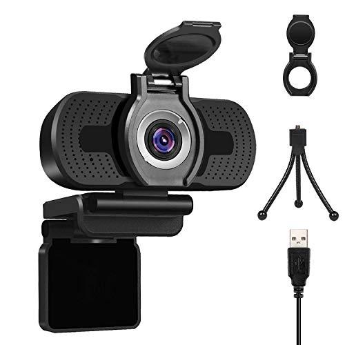 LarmTek Full Hd Webcam 1080p Videokamera mit Webcam Abdeckung,USB Webcam mit Eingebautes Mikrofon,Mini Plug...