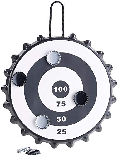 Playtastic Kronkorken Dart: Magnetisches Kronkorken-Dartspiel mit 6 Kronkorken, Ø 24 cm (Kronkorkendartspiel)