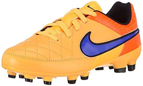 Nike Tiempo Genio Leather FG 630861-810, Unisex-Kinder Fußballschuhe, Gr.-35.5 EU, Orange