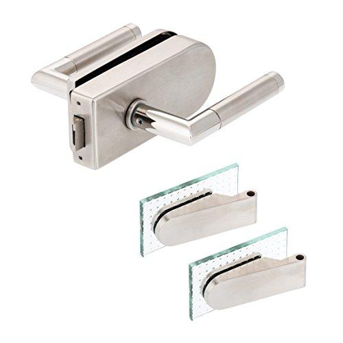 Glastürbeschlag'D' Set UV | V2A Edelstahl matt | inkl. Studiobändern | metallische Innenmechanik | Core