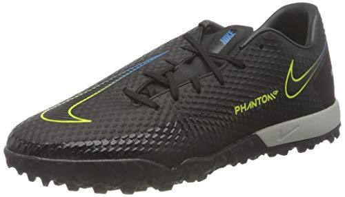 Nike Herren Phantom GT Academy TF Football Shoe, Black/Black-Cyber-Light Photo Blue, 42 EU