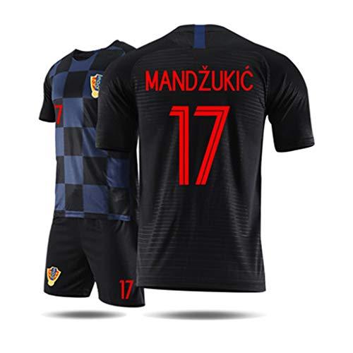 KLEDDP T-Shirt Herren-Trikot für Kroatien-Weltmeisterschaft Sportbekleidung Kurzarm Shorts...