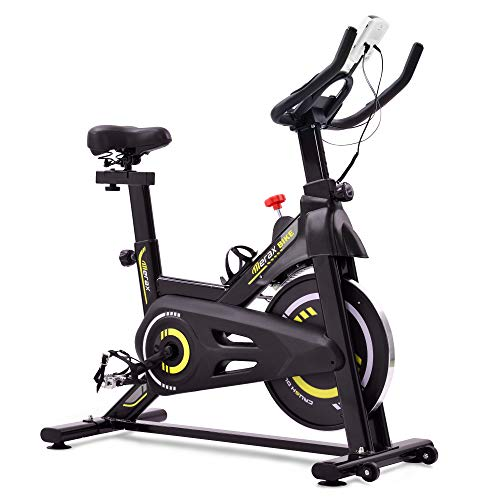 Merax Indoor Cycling Bike mit Magnetwiderstand, Heimtrainer f¨¹r Station?Res Cardio-Fitnessstudio,...