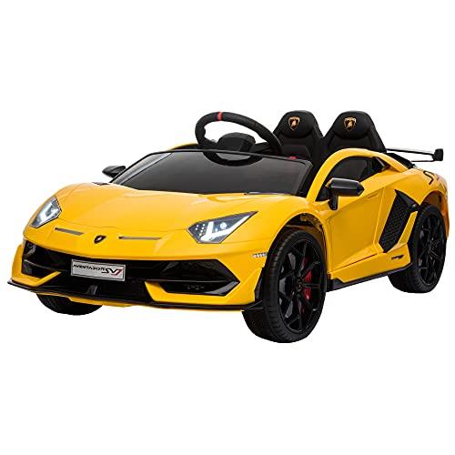 HOMCOM Elektroauto Lamborghini SVJ lizenziert Kinderfahrzeug Kinderauto für 3-8 Jahre mit Fernsteuerung...