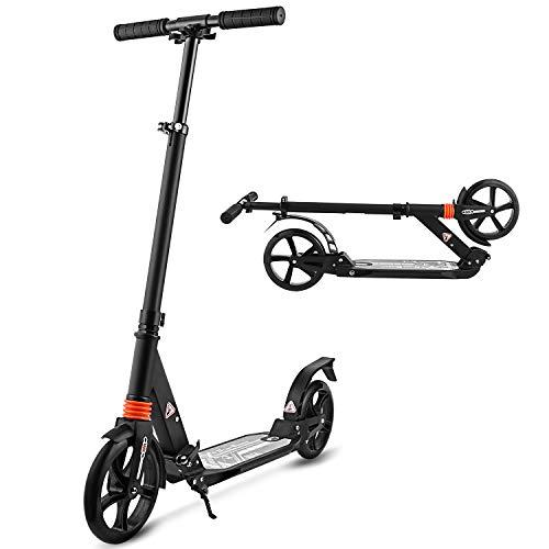 WeSkate City Roller Scooter Klappbar & Höhenverstellbar Roller für Erwachsene | Big Wheel Scooter Cityroller...