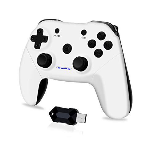 Clevo Gamepad für PC, 2.4G Wireless Game Controller für PC mit USB, Joypad mit Dual Vibration Plug and Play...