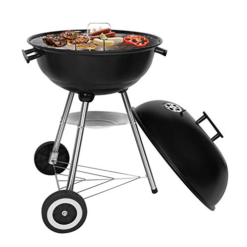 Sunjas Holzkohlegrill, Kugelgrill, Outdoor Reisegrill, BBQ Campinggrill, Party, Familienferien, Schwarz...
