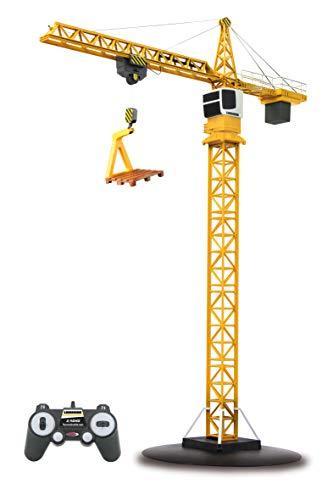 JAMARA 405109 - Turmdrehkran Liebherr 2,4G - Lasthaken auf und ab, Laufkatze vor und zurück, Endlose...