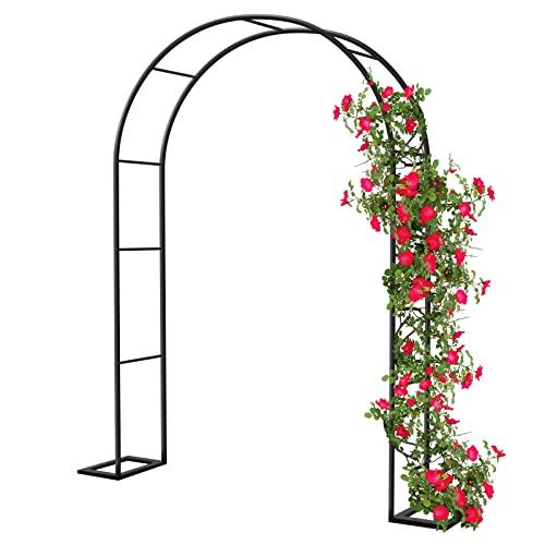 Rosenbogen Torbogen Rankhilfe Gartenbogen Rankbogen, 140x230cm Metall Stabil Rosenhilfe für Rosen und...