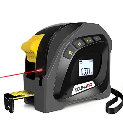 YOUNGDO 40M Digitale Laser Entfernungsmesse mit 5m Massband, Wiederaufladbar Lasermessgeräte, ±3mm, M/Ft/In,...