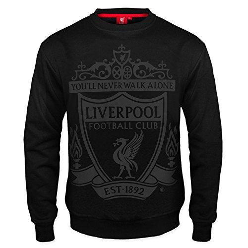 Liverpool FC - Herren Sweatshirt mit Vereinswappen - Offizielles Merchandise - Geschenk für Fußballfans -...