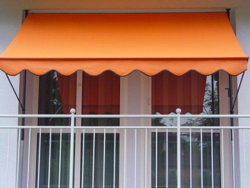 Angerer Klemmmarkise PE-Gewebe Uni, Orange, 250 cm