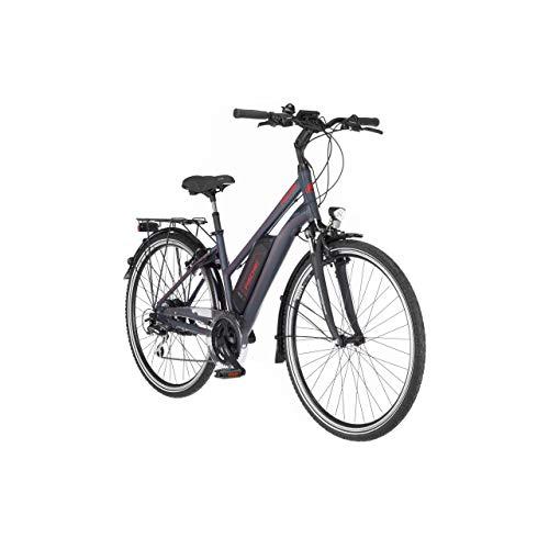 FISCHER Damen - Trekking E-Bike ETD 1806, Elektrofahrrad, dunkel anthrazit matt, 28 Zoll, RH 44 cm,...