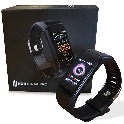 KoreHealth KoreTrak Pro Smartwatch - Aktivitäts- & Fitness Tracker l Blutdruckmessung, Pulsmesser und...