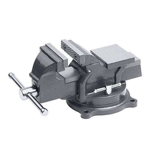 Meister Schraubstock - Drehbar - 125 mm Spannweite - Hochwertige Stahlbacken - Sicheres Fixieren von...