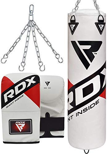 RDX Boxsack Set Gefüllt MMA Kickboxen Muay Thai Boxen mit Stahlkette Training Handschuhe Kampfsport Schwer...