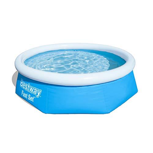 Bestway Fast Set Pool ohne Pumpe, rund 244 x 66 cm, blau, Blau