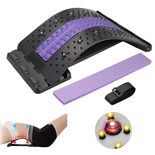 Karanice Back Stretcher Rückendehner Rückenstreckermit Magnetfeldtherapie Rückenmassage für Unter Ober...