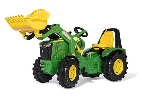 Rolly Toys 651047 - Trettraktor rollyX-Trac Premium John Deere 8400R, für Kinder von 3-10 Jahre,...