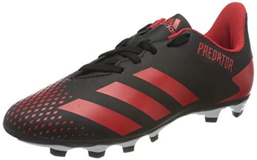 adidas Unisex Predator 20.4 Fxg J Fußballschuh, Schwarz Cblack Actred Cblack 000, 35 EU
