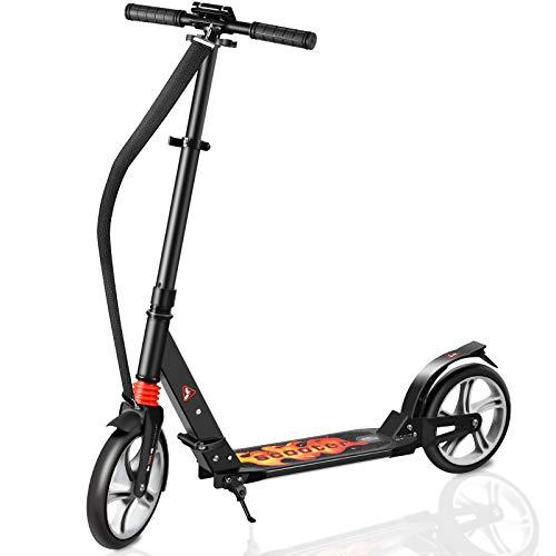 Fast 88 City Roller Scooter Klappbar & Höhenverstellbar Roller Kinder | Big Wheel Scooter Cityroller mit...
