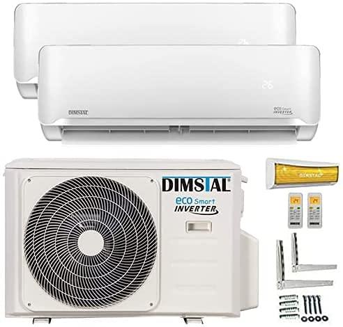 A++/A++ Duo-Split Golden-Fin 3,5 + 3,5 kW 12000+12000 BTU MultiSplit Klimaanlage INVERTER Klimagerät mit zwei...