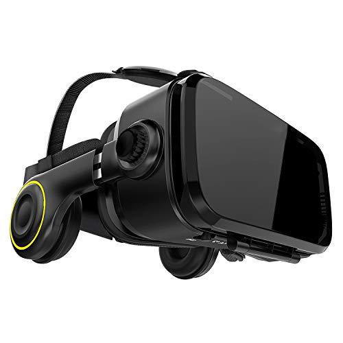 Hi-SHOCK Premium VR-Brille - X4 - Gaming Brille für 3D Spaß - VR-Box mit integrierten Kopfhörern für 4,7 -...