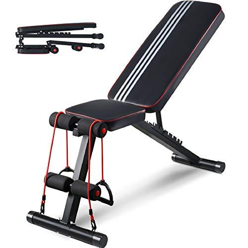 Aebow Hantelbank, verstellbar, faltbar, für Zuhause, Fitnessstudio, Workout, Hantelbänke, Fitness-Set,...