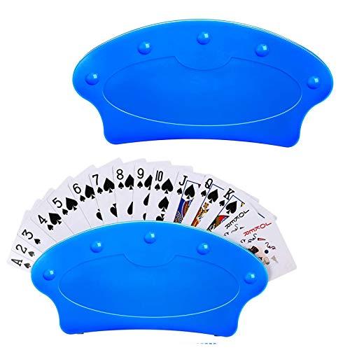 2 Stück Spielkartenständer Spielkarten Halter Kartenhalter Karten Halter, Poker-Halter-freihändige...