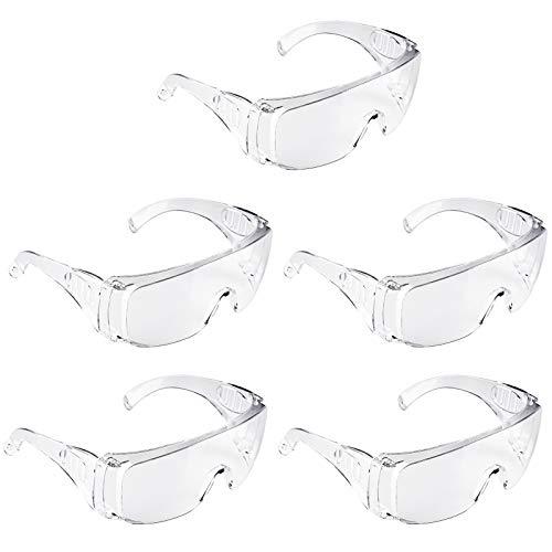 Adoric Schutzbrille 5 Pack Schutzbrille Vollsichtstaubbrillen Professionelle Überbrille Arbeitsschutzbrille...