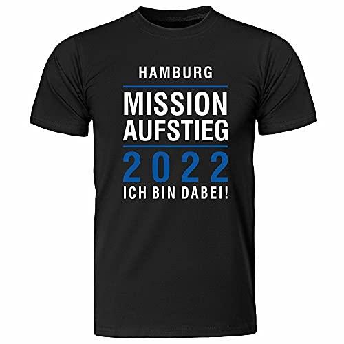 T-Shirt Hamburg   Mission Aufstieg 2021   Ich Bin Dabei   Fanartikel - qualitativ hochwertig Bedruckt (XXL)