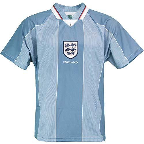 Score Draw England Euro 1996 Retro Away Trikot (XL, Bluegrey)