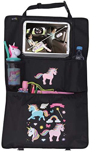 HECKBO® Auto Rücksitz Organizer mit verstellbarer Tablet Tasche für Tablets bis zu 20 Zoll mit Touch Folie...