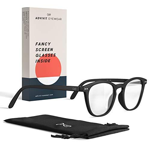 ADVIVIT Eyewear Blaulichtfilter Brille Damen Herren ohne Stärke Sehstärke, Blaulicht Filter Bildschirmbrille...