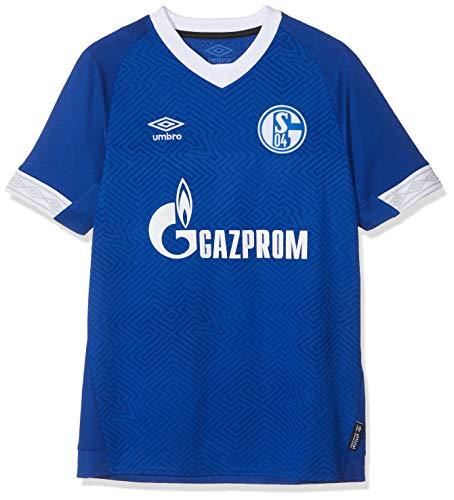 UMBRO Kinder FC Schalke 04 Home SS Jersey, blau, YXL