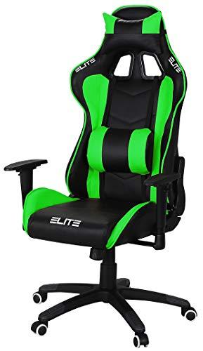 ELITE Racing Gaming Stuhl MG-200 - Bürostuhl – Kunstleder - Ergonomisch - Racer – Drehstuhl – Chair –...