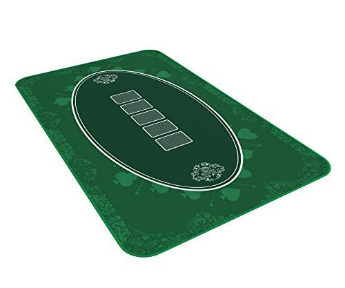 Bullets Playing Cards Designer Pokermatte grün in 100 x 60cm - für den eigenen Pokertisch - Deluxe Pokertuch...