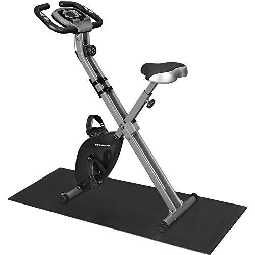 SONGMICS X Bike,Heimtrainer,Fahrradtrainer, Fitnessbike, zusammenklappbares Fitnessfahrrad, 8 magnetische...