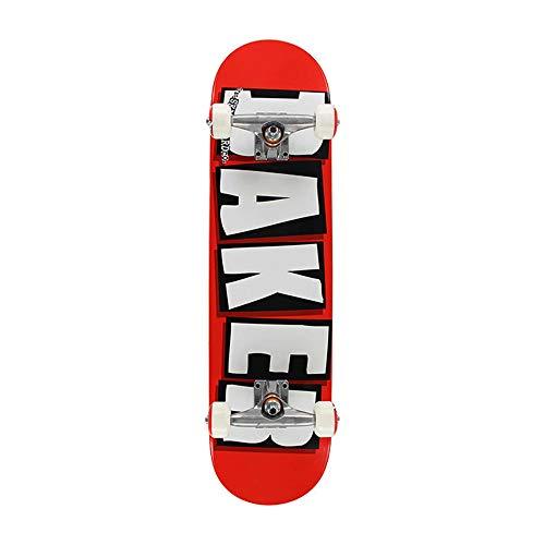 Baker Complete Brand Logo WHT (red/White) Skateboard 8.0