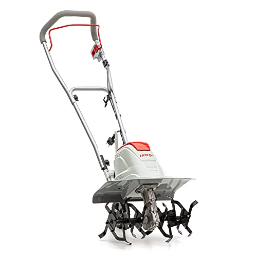 IKRA 70300910 Elektro Bodenhacke Kultivator FEM1500, Flexible Arbeitsbreite 17-45cm, Arbeitstiefe bis 23cm,...