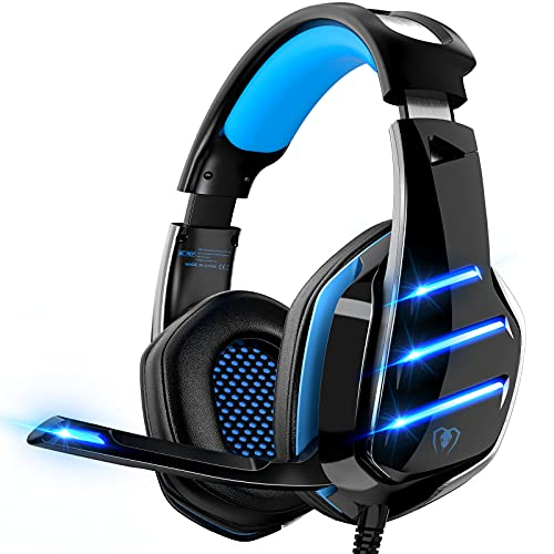 Gaming Headset für PS4 PS5 PC Xbox One, PS4 Headset mit Mikrofon Surround Bass Sound Kopfhörer Noise...