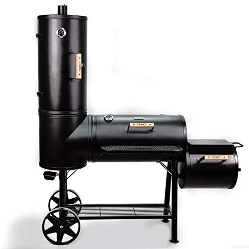 TAINO Chief 130kg Smoker BBQ Räucherofen Holzkohle Grill inkl. 3er Set Gussroste