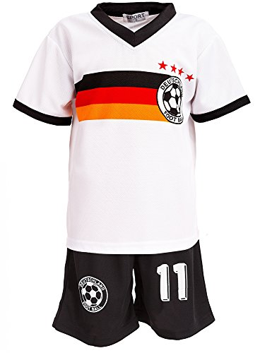 Top-Kiddy-Fashion 24brands - Jungen Fußball Set 2 Teilig Trainings Trikot Deutschland Italien Brasilien...