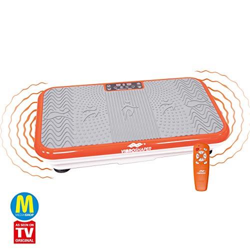 Mediashop VibroShaper, Vibrationsplatte, Ganzkörper Training | 3 Stufen, 99 Geschwindigkeiten, Fernbedienung,...