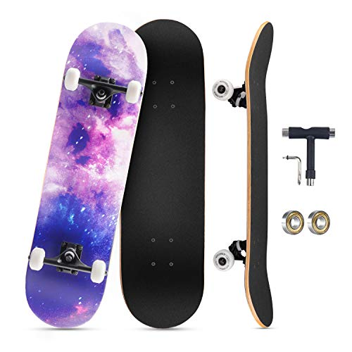 KOVEBBLE Skateboard Erwachsene Complete Board 31 x 8 inch mit ABEC-9 Lagern 95A Rollen, Cooles Skateboard für...